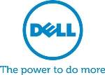 Dell tagline vertical logotype in blue, Pantone Matching System.  JPEG format.  The power to do more.